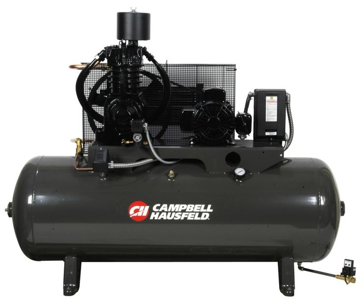 Campbell Hausfeld CE7006FP Three Phase 5HP Air Compressor with 80 Gallon Horizon Air Compressors Stationary Electric