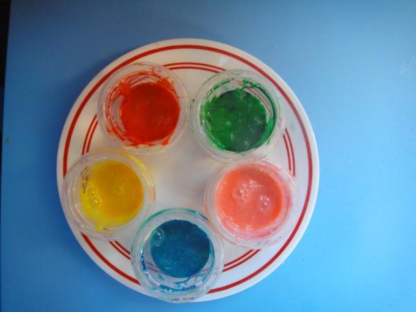 Quick Edible Finger Paints