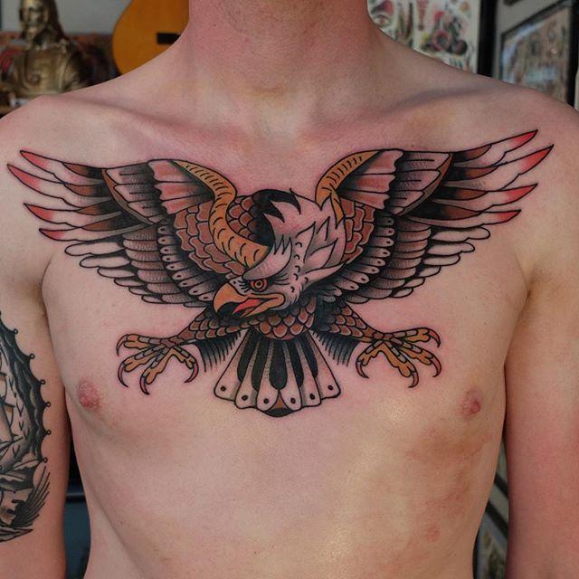 21inkedd Eagle Tattoo By Tobias Debruyn Eagle Eagletattoo