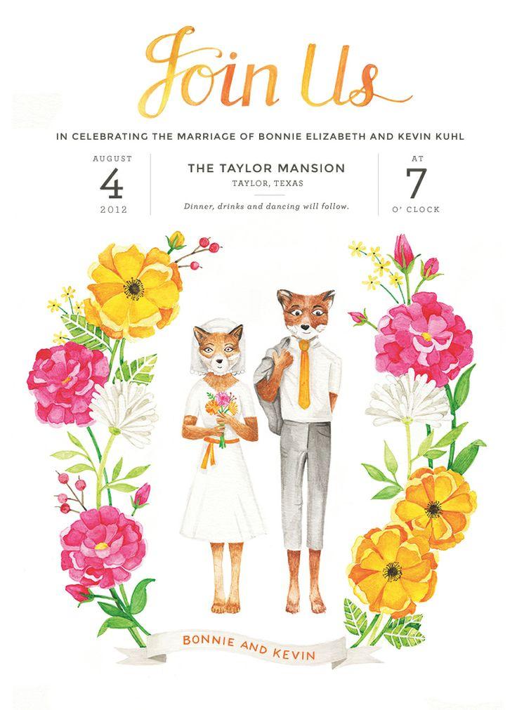 Fantastic Mr. Fox Hochzeitseinladung