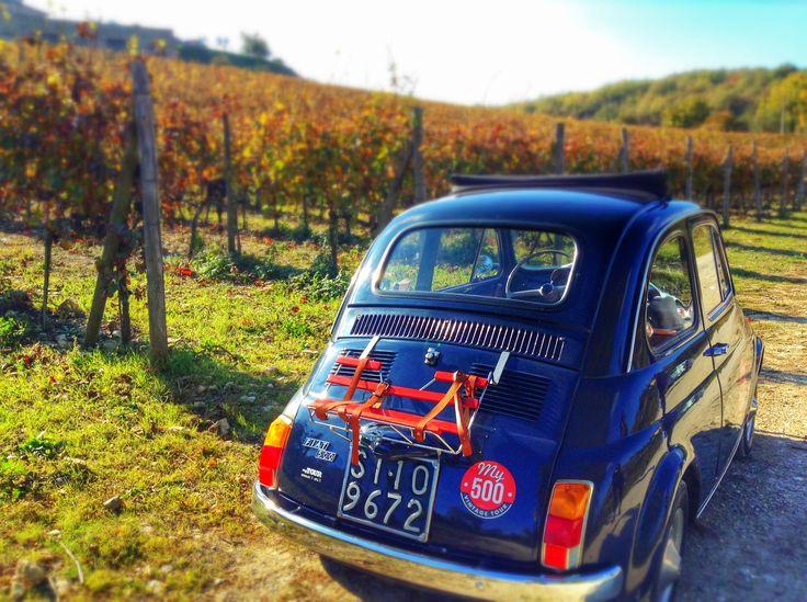 My 500 vintage tour. Chianti hills.