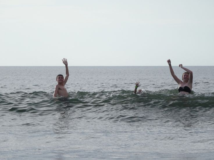 Playing in the waves!  Tamarindo, Costa Rica