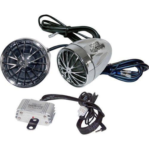 Pyle - Motorcycle-Mount 400-Watt Sound System With Dual Speakers