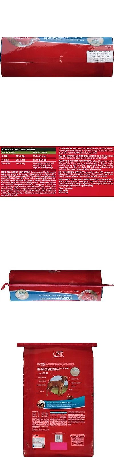 Dog Food 66780: Purina One Smartblend Large Breed Adult Formula Adult Premium Dog Food 31.1 L... BUY IT NOW ONLY: $45.99
