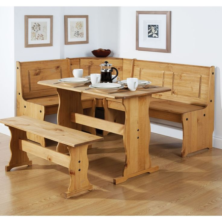 country kitchen table with bench. beautiful ideas. Home Design Ideas