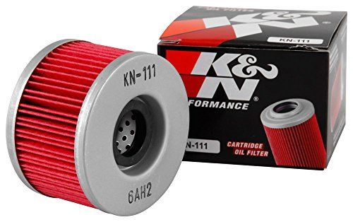 K&N KN-111 Honda Powersports High Performance Oil Filter - K&N Powersports Cartridge Oil Filters are designed to satisfy the needs of racers and engine builders as well as the average motorcycle or ATV owner who wants the best oil filter available. K&N Powersports Oil Filters trap harmful contaminants while the filter's construction allows for high oil f...