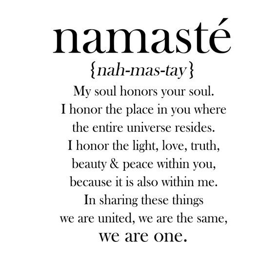 Namaste Definition Quote Vinyl Decal by ScriptumInMuris on Etsy