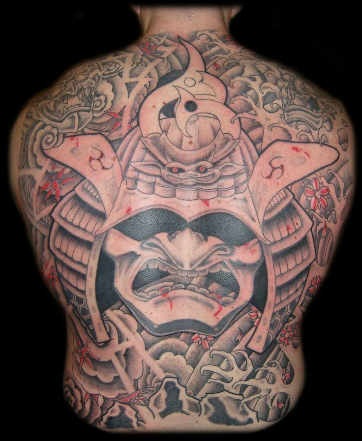 samurai oni mask tattoos samurai mask tattoo david. Black Bedroom Furniture Sets. Home Design Ideas
