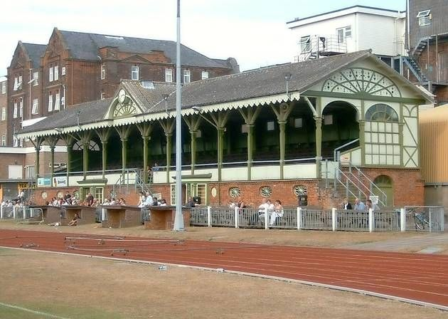 Wellesley Recreation Ground, home to Great Yarmouth Town Football Club with the oldest grandstand in the world still in use.