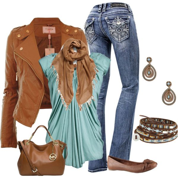 """Aqua Casual"" by smores1165 on Polyvore"