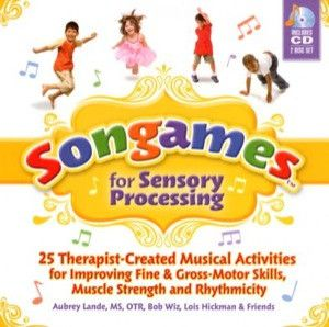 Catalog No. 27411 Fun and engaging for kids ages 3-8, Songames are musical activities for improving fine-and gross-motor skills, muscle strength, and rhythmicity. These 25 therapist-created Songames o