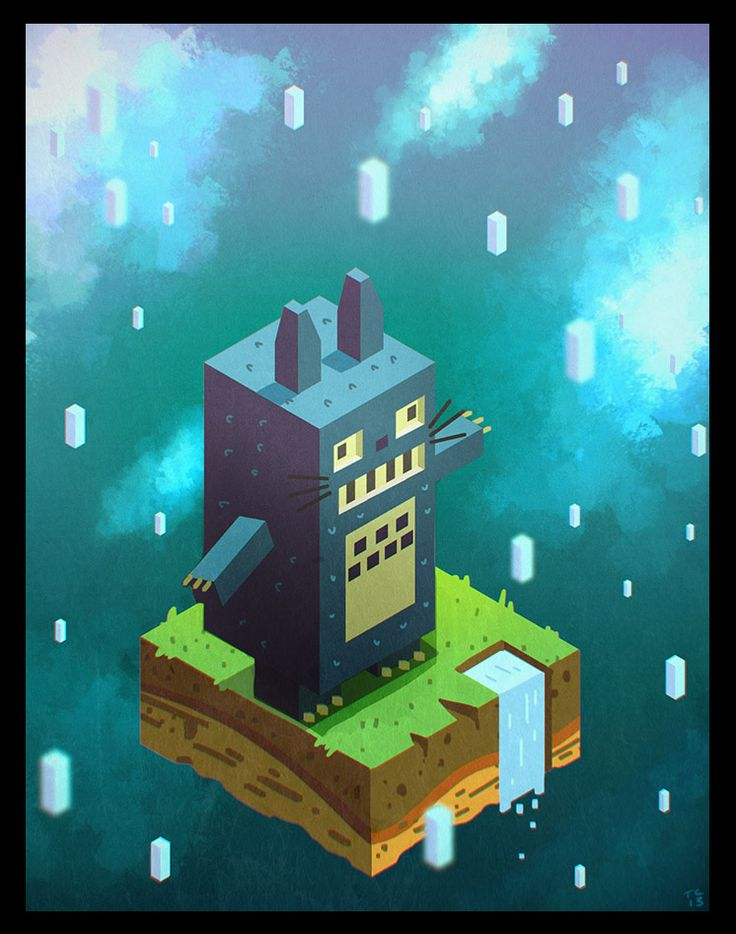 ladytruds:  Home again! Playing around with Hexels with a Totoro piece (my lovely boyfriend bought the movie for me on Blu Ray, yay!).