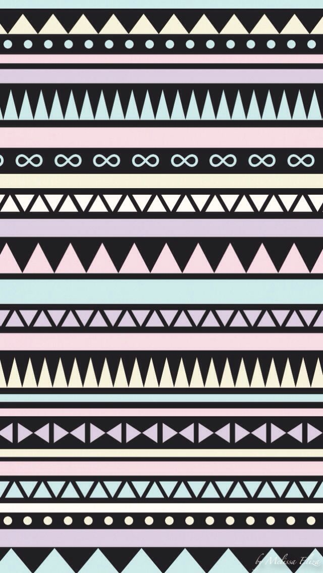 Black and Pastel tribal iphone wallpaper
