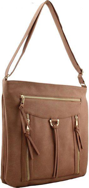 Large Cross Body Shoulder Faux Leather Handbag