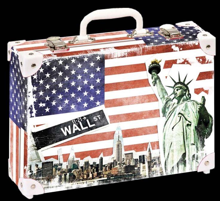 Školní kufřík malý - 33x23x10cm č. 21749 HK Malý  NEW YORK