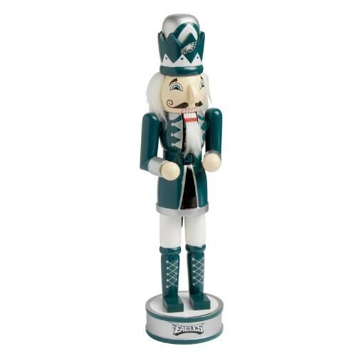 "One of my favorite discoveries at ChristmasTreeShops.com: 14"" NFL Philadelphia Eagles Wood Nutcracker"