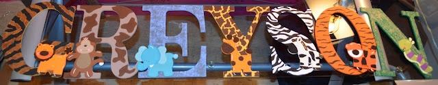 safari nursery letters
