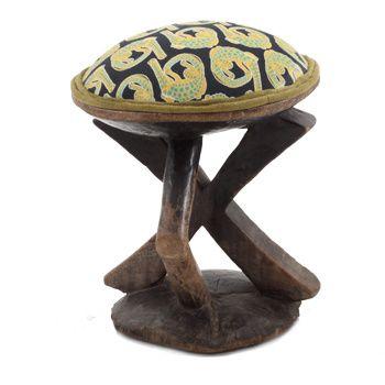 Ardmore Ceramics Batonka Stools: Batonka Stool in Croco Lime Light