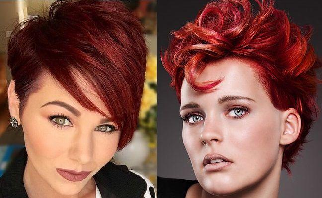 """Voor de echte fans van rood haar zijn deze voorbeelden geweldig! Als jij rood haar op jouw """"wishlist"""" hebt staan, dan moet je deze geweldige kapsels eens zien! Deze 10 verschillende modellen zijn allemaal geverfd in een hele mooie diep rode kleur..."""