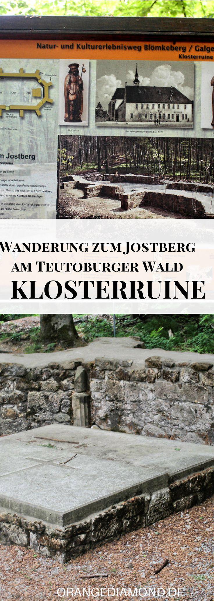 Das Jostbergkloster in Bielefeld im Teutoburger Wald. Einst eine Niederlassung der Franziskanerobservanten. Heute sind noch die Grundmauern der spätgotischen Klosterkirche erhalten! Eine der Sehenswürdigkeiten in Bielefeld in der Natur! #jostberg #bielefeld #kloster #klosterruine