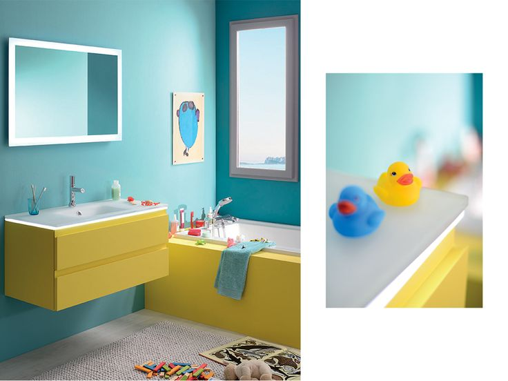 Awesome Salle De Bain Jaune Et Bleu Ideas - House Design ...
