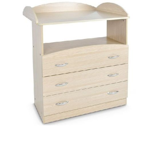 Baby Changing Unit and Three drawers Modern Infant Nursery Room Wood Mdf Cabinet