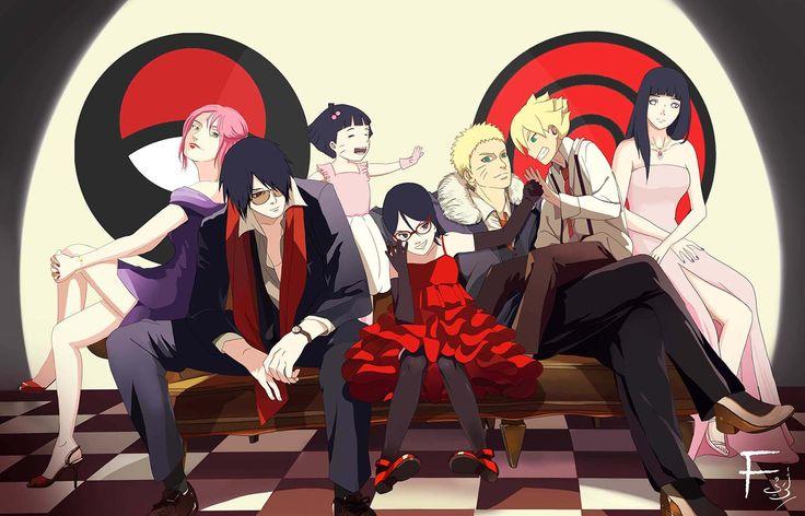 Uchiha and Uzumaki Family  #narutofamily #sasukefamily #sasukesakura #boruto #sarada #narutohinata