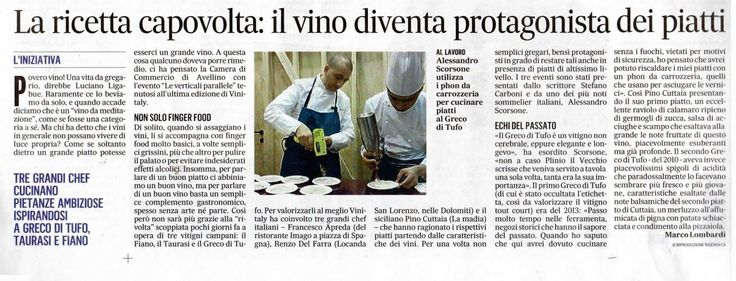 #Vinitaly2015 #Verticalieparallele #IlMessaggero #CCIAA_AV #Irpinia #RassegnaStampa