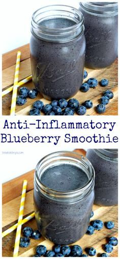 Anti-Inflammatory Blueberry Smoothie. Fight inflammation in the tastiest way! Dairy free, gluten free and vegan friendly!