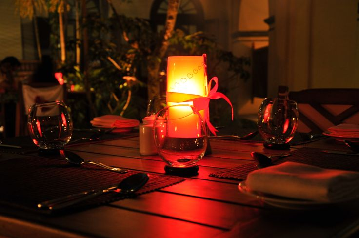 Experience the #romance of a #CandleLightDinner with your special someone and rekindle your emotions in the most elegant way at Villa Maya TVM.