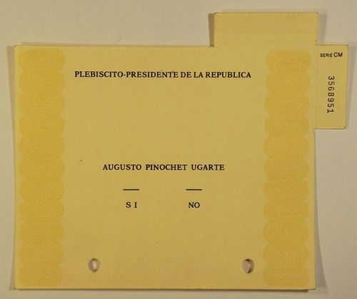 Papeleta prebiscito 1988
