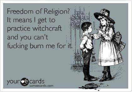 SO TRUE! Now if only we can get people to realize that Wiccans/Pagans DO NOT WORSHIP SATAN!---- @angelw7