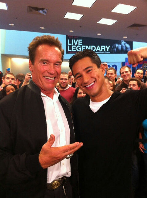Great looking pair at the Arnold Sports Fest: Mario Lopez & Arnold Schwarzenegger