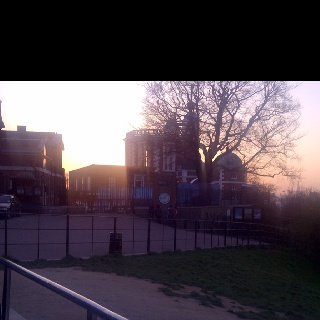 Longitude 0' latitude 0' Greenwich Royal Observatory ... One beautiful sundown.