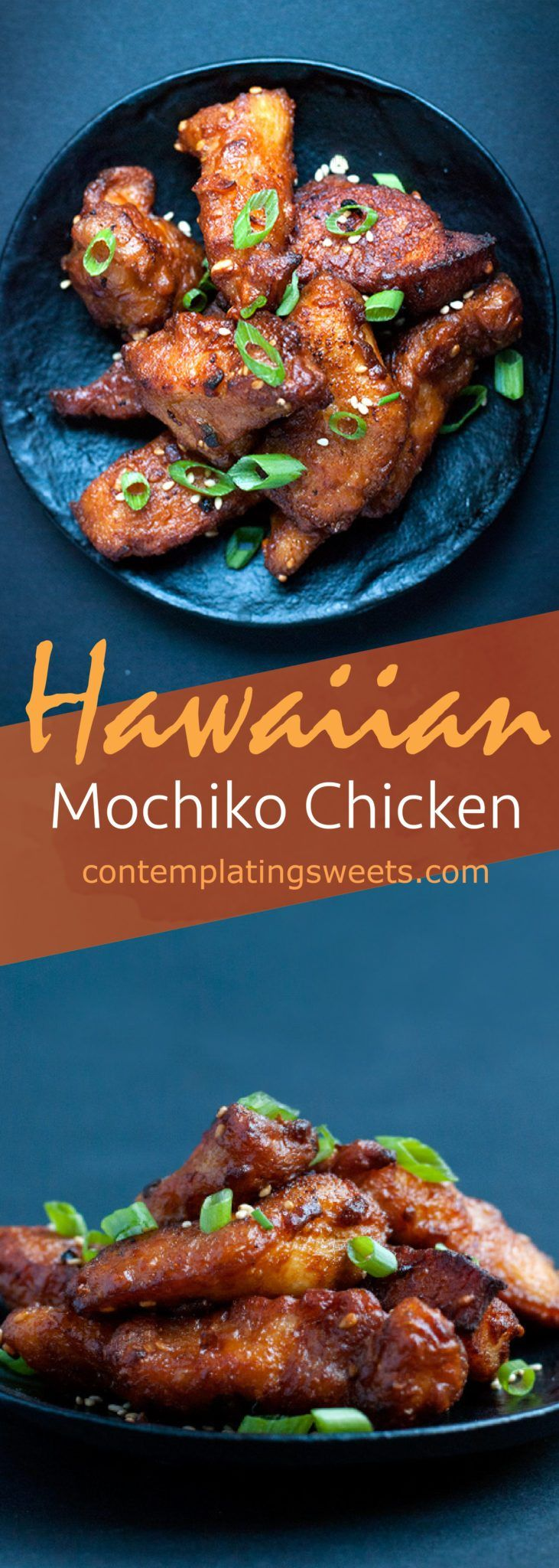 Hawaiian mochiko chicken- Mochiko chicken is a popular Hawaiian dish, where bite sized pieces of chicken are marinated in a sweet and salty sauce, and fried to perfection!
