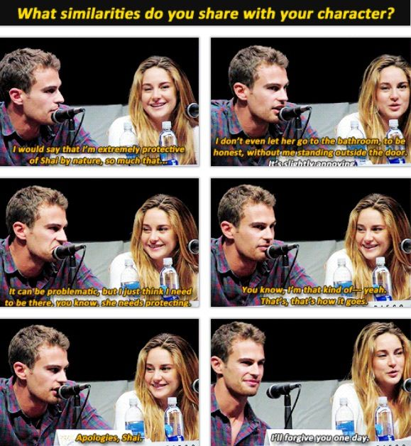 are tris and four dating in real life