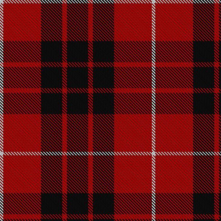 Tartan image: Munro (Black and Red)