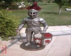 Shielded Knight Statue