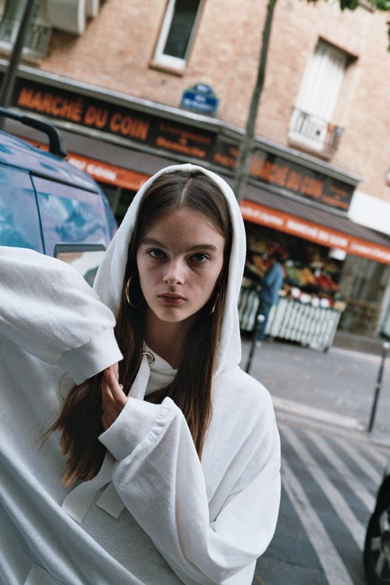 Vale Denim white hoodie