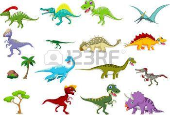 dinosaure icône: collection de bande dessinée de dinosaure Illustration
