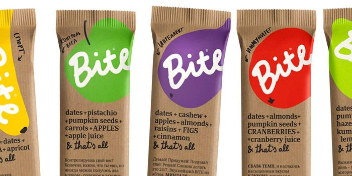Bite: Cute packaging AND 100% natural and healthy by Russian company BioFoodLab