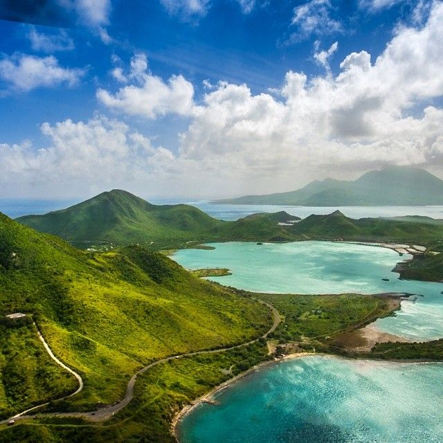 Beautiful helicopter shot! St Kitts....follow your heart.