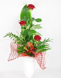 Bukiet trio Róż