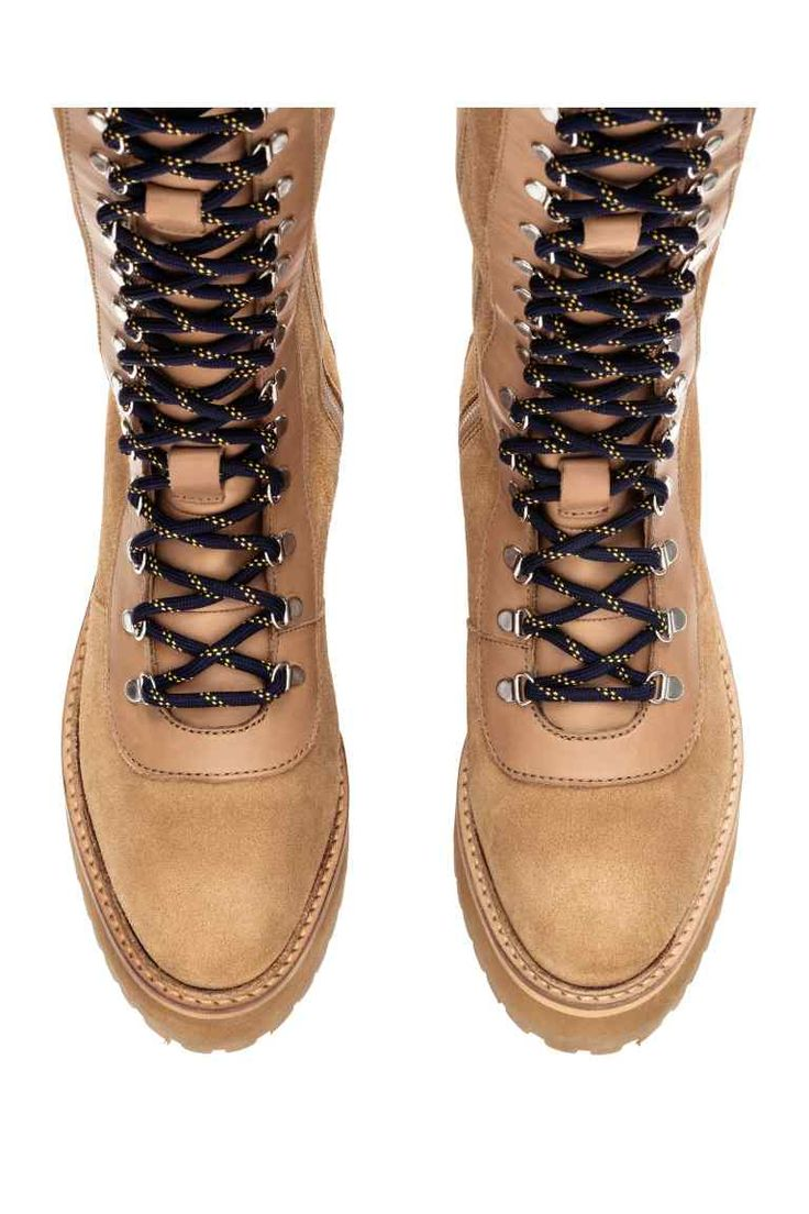 Knee-high leather boots   H&M
