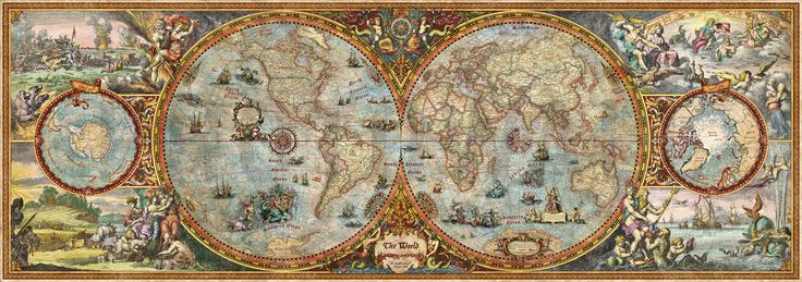 Hemisphere Map - Tapetit / tapetti - Photowall