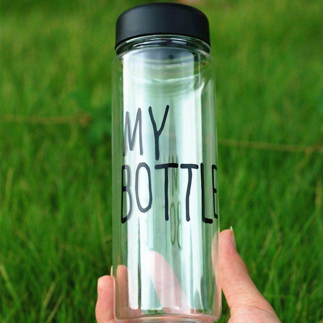 Моя Бутылка 500 Мл Мода Спорт Мою Бутылку Лимонного Сока Легко чашка пространство чашки бутылки с водой Для Лучший Подарок
