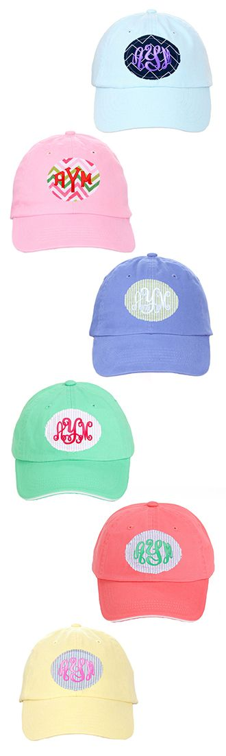 Marleylilly.com - Monogrammed Frayed Patch Baseball Hat #baseball #love #spring #summer
