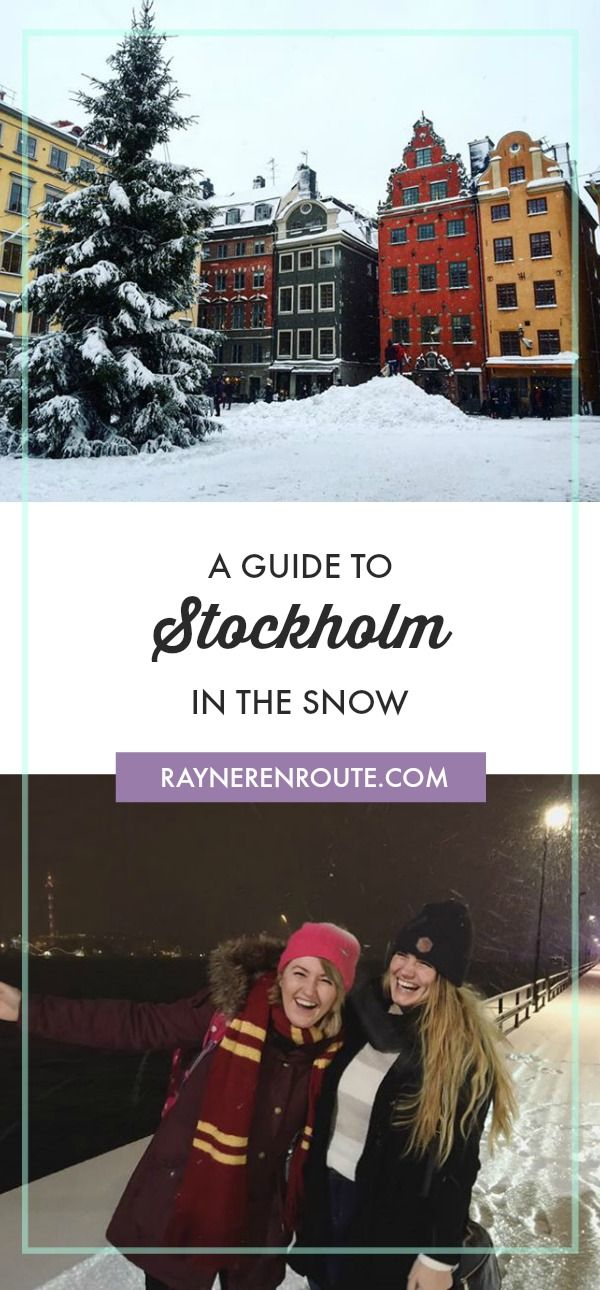A travel guide to Stockholm in the snow, which mostly revolves around what food to eat to keep warm.