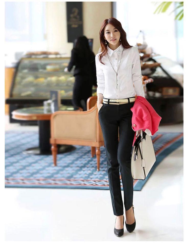 2017 осенью новый пакет талии брюки брюки Хан вентилятора Xian тонкие брюки брюки женщин черные штаны OL трусы брюки женщин - Taobao