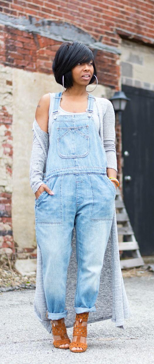 Gap overalls, long cardigan, Indanapolis blog, bodysuit